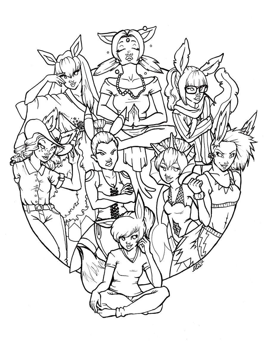 pokemon eevee evolutions coloring pages pokemon coloring pages eevee evolutions part 3 free evolutions pages eevee pokemon coloring