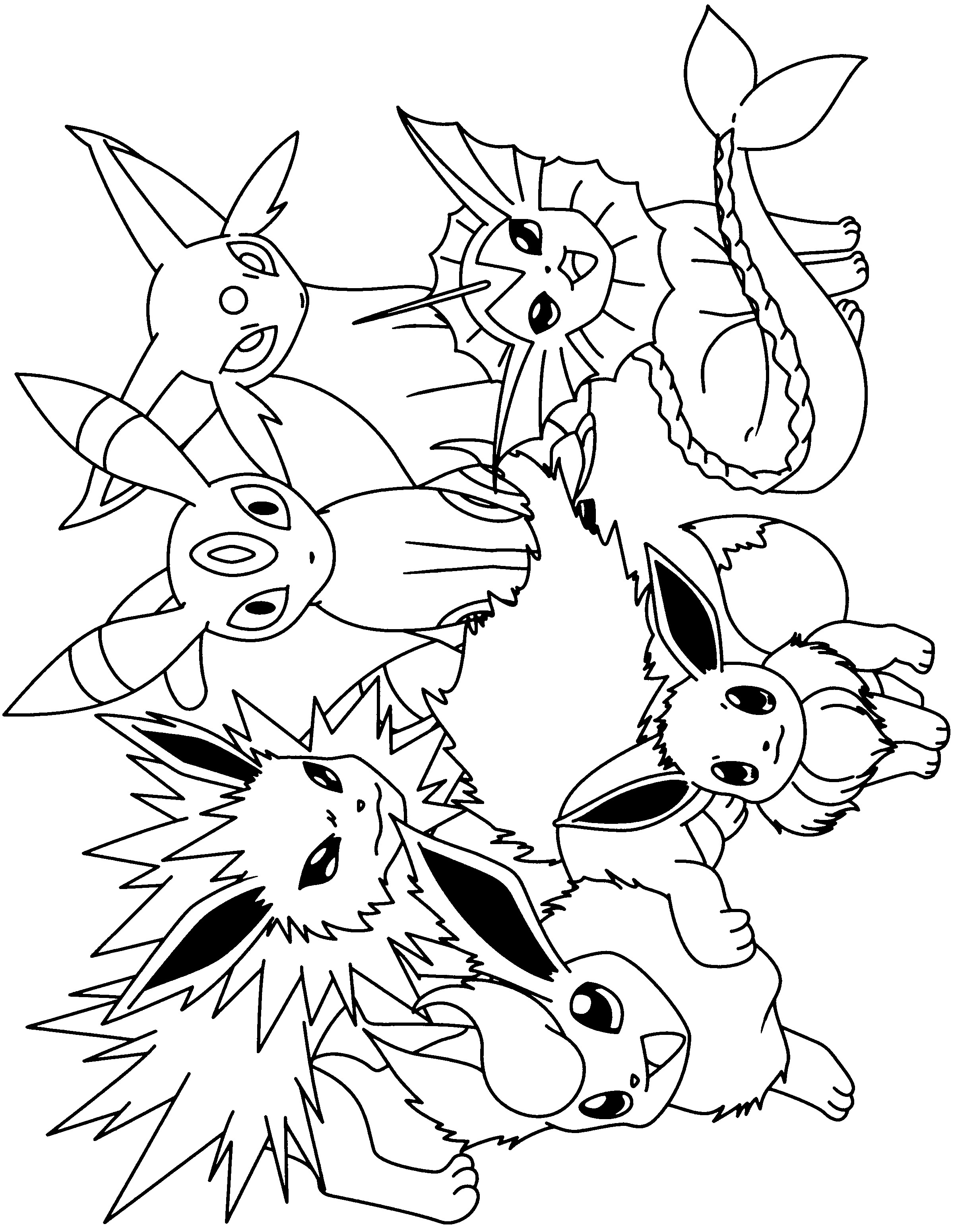pokemon eevee evolutions coloring pages pokemon coloring pages eevee evolutions part 3 free pokemon evolutions coloring pages eevee