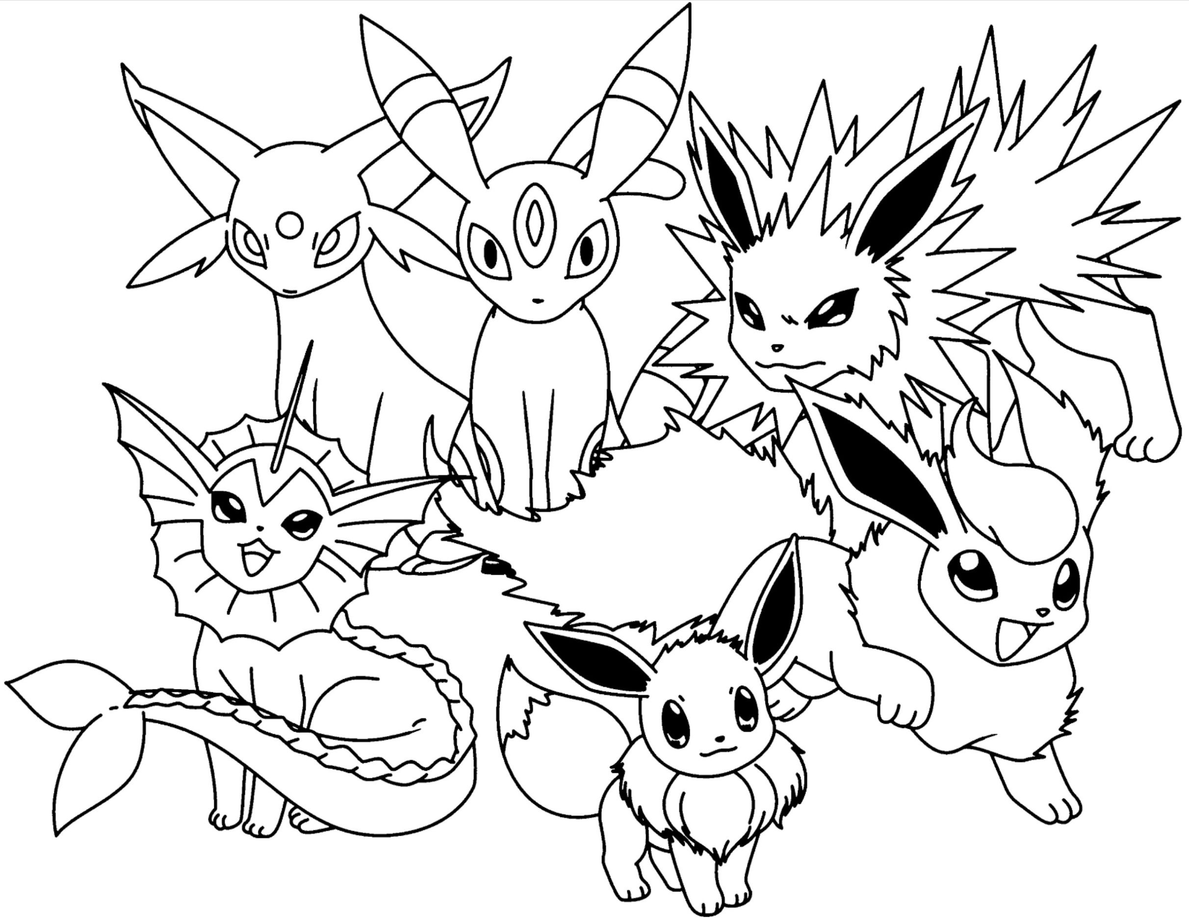 pokemon eevee evolutions coloring pages pokemon coloring pages eevee evolutions part 3 free pokemon pages coloring eevee evolutions
