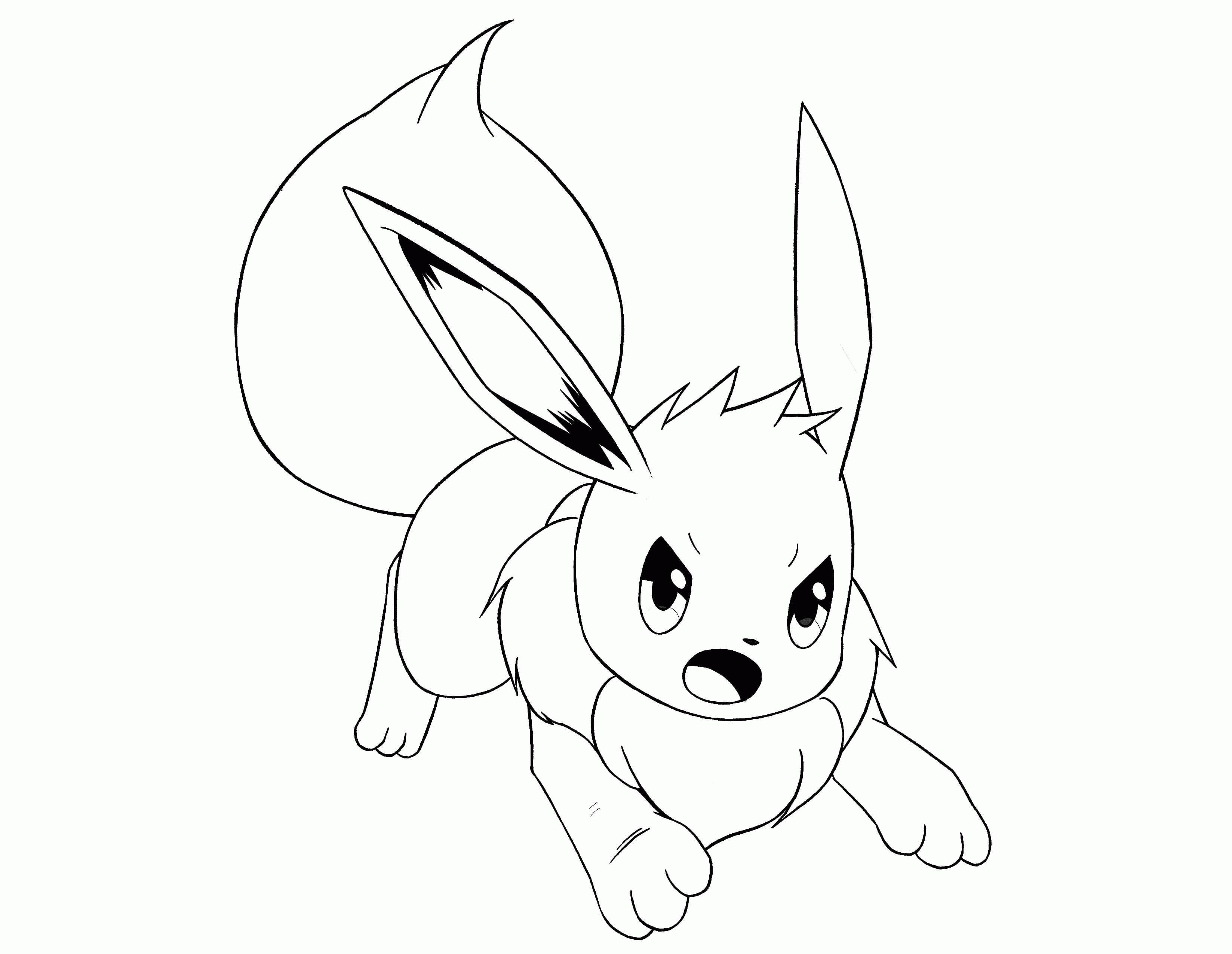 pokemon eevee evolutions coloring pages the best free eevee coloring page images download from pokemon evolutions pages coloring eevee