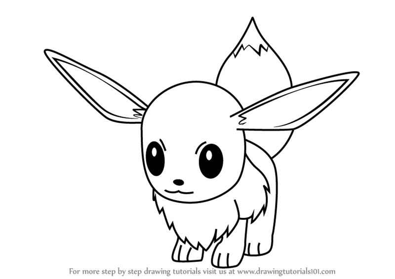 pokemon how to draw eevee eevee drawing at getdrawings free download eevee how pokemon to draw