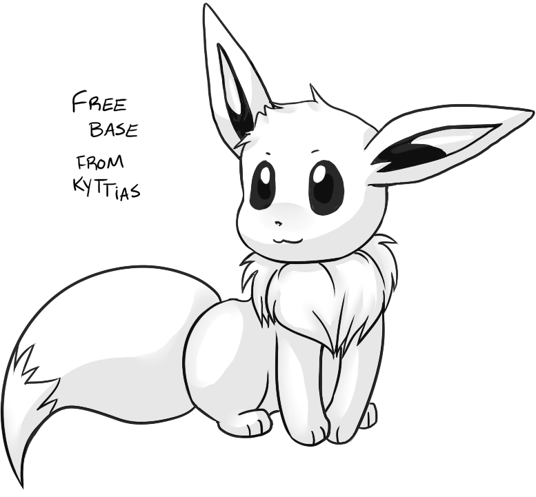 pokemon how to draw eevee eevee free to use lineart by scuterr on deviantart to draw eevee how pokemon