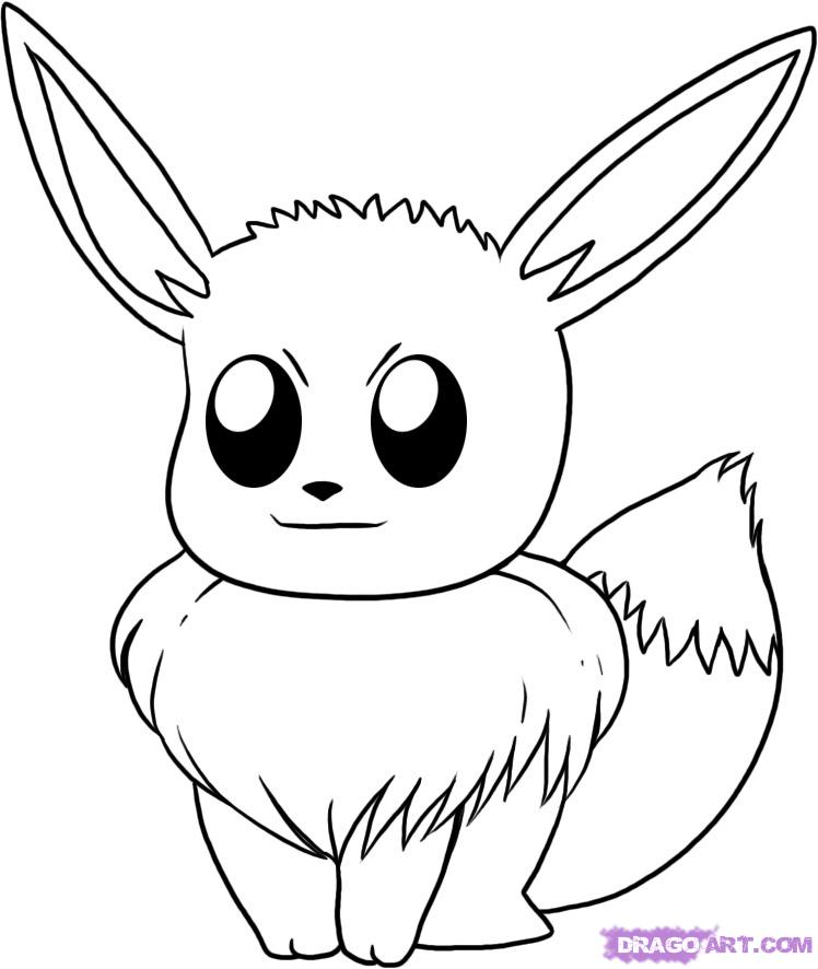 pokemon how to draw eevee pokemon eevee coloring pages line drawing free printable eevee pokemon draw how to