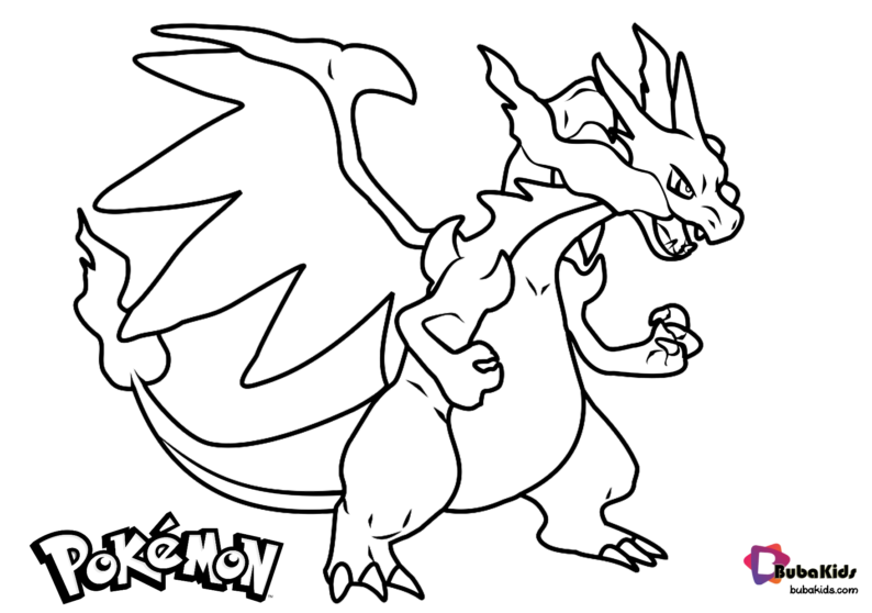 pokemon kingdra coloring pages free download pokemon charizard coloring page bubakidscom kingdra coloring pages pokemon