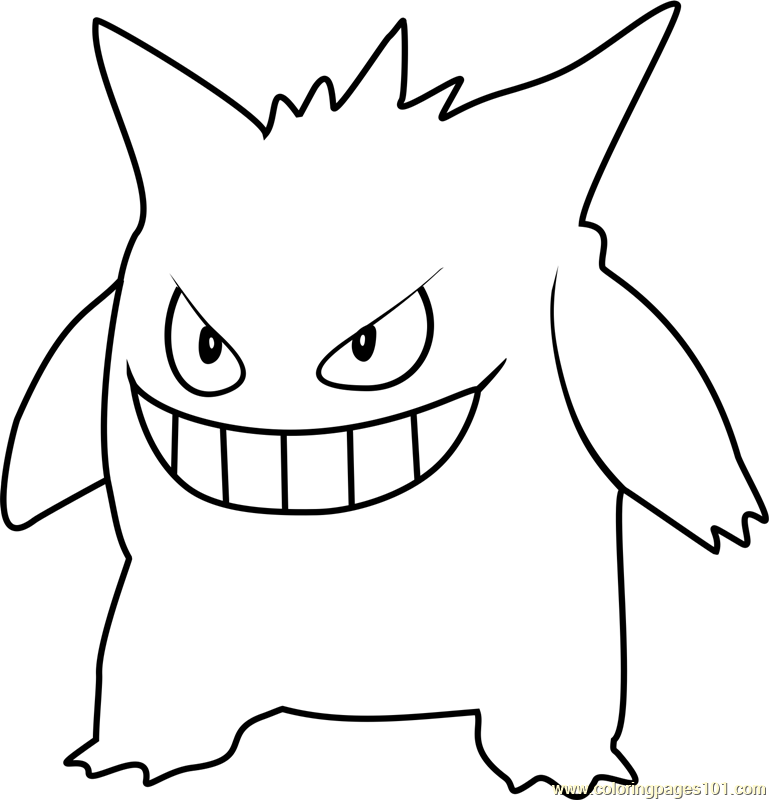 pokemon kingdra coloring pages gengar pokemon go printable coloring page for kids and adults coloring pokemon pages kingdra