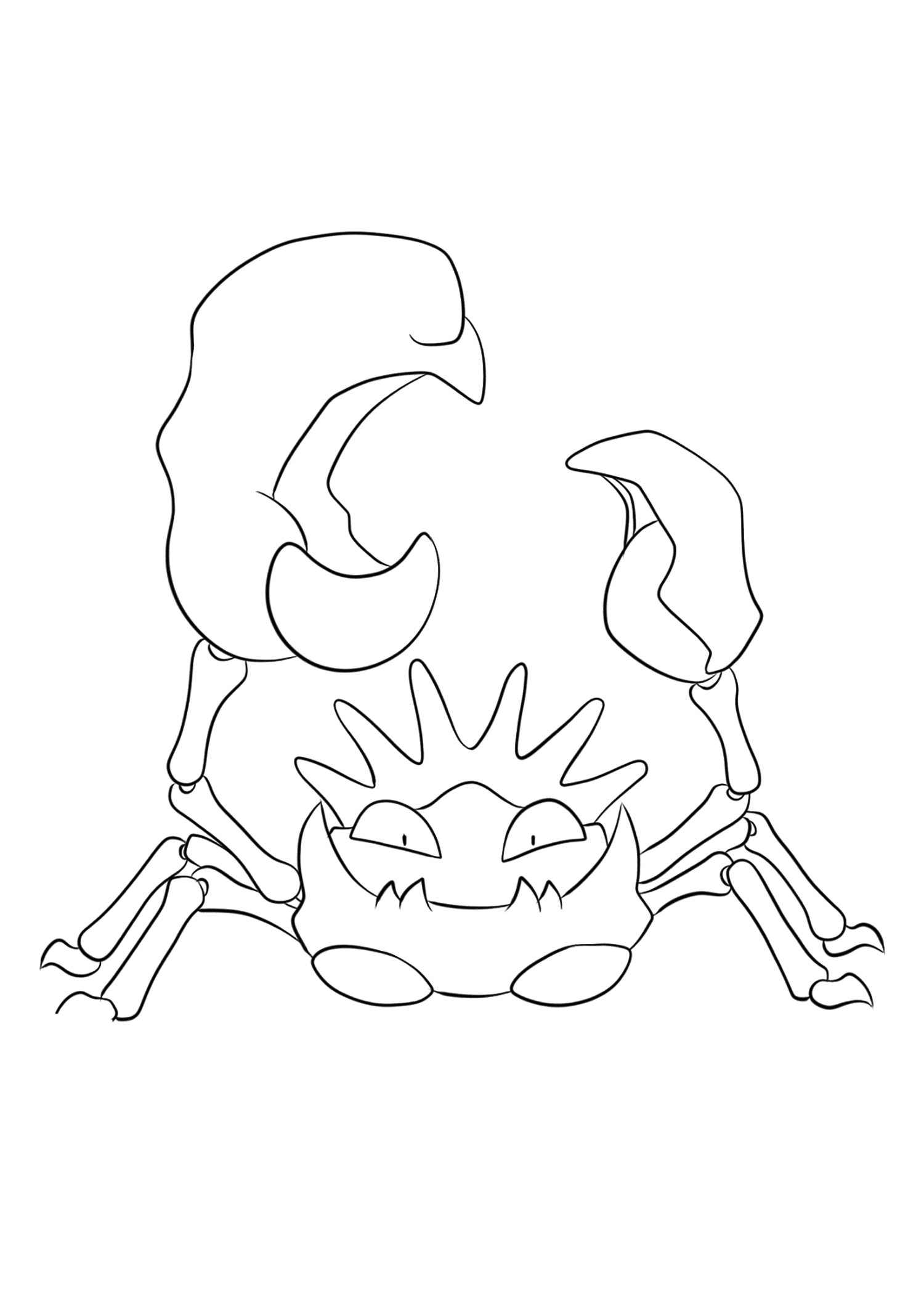 pokemon kingdra coloring pages kingler no99 pokemon generation i all pokemon pages pokemon kingdra coloring