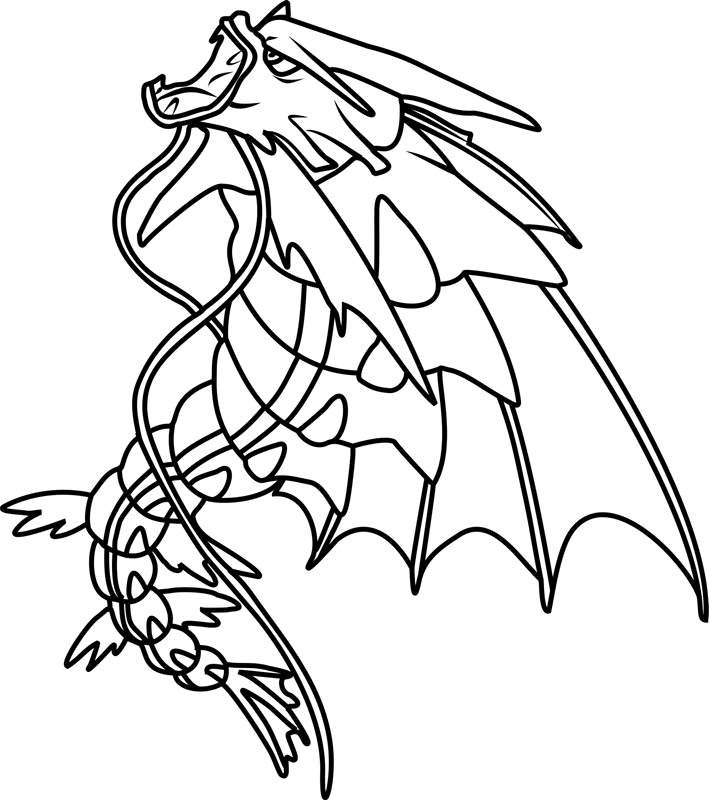 pokemon kingdra coloring pages mega gyarados pokemon coloring page free printable pokemon coloring kingdra pages