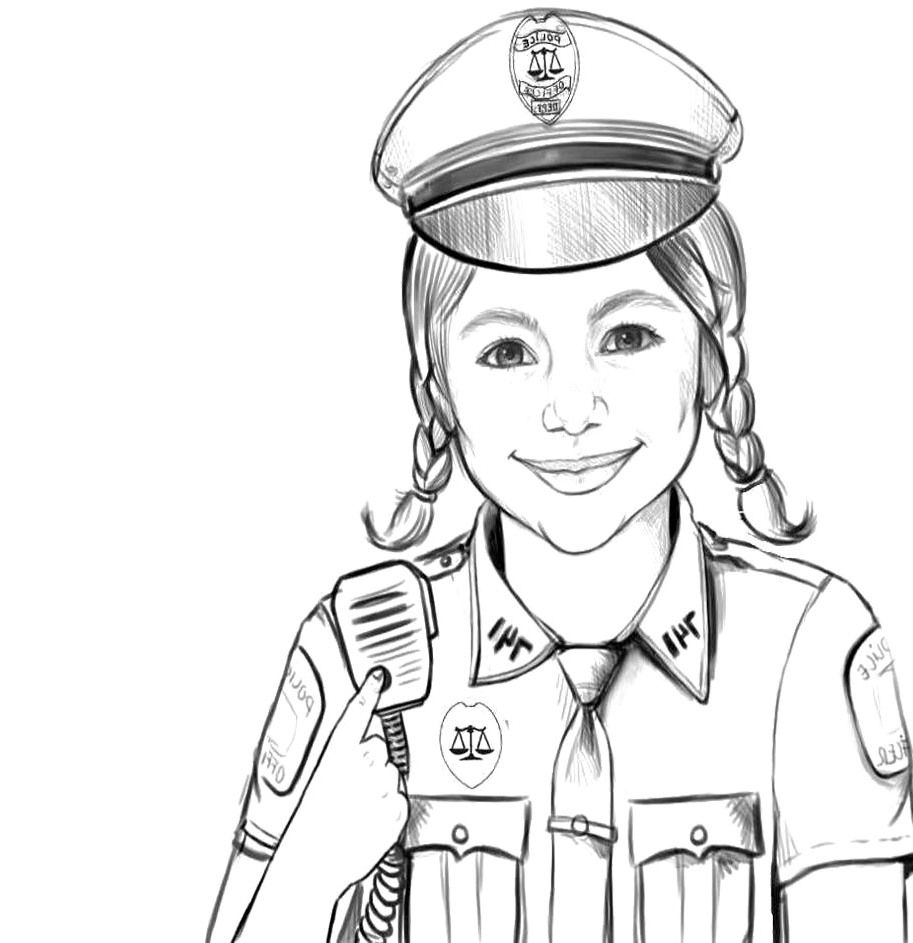 police pictures to colour blue line life living loving and thriving as law to colour pictures police