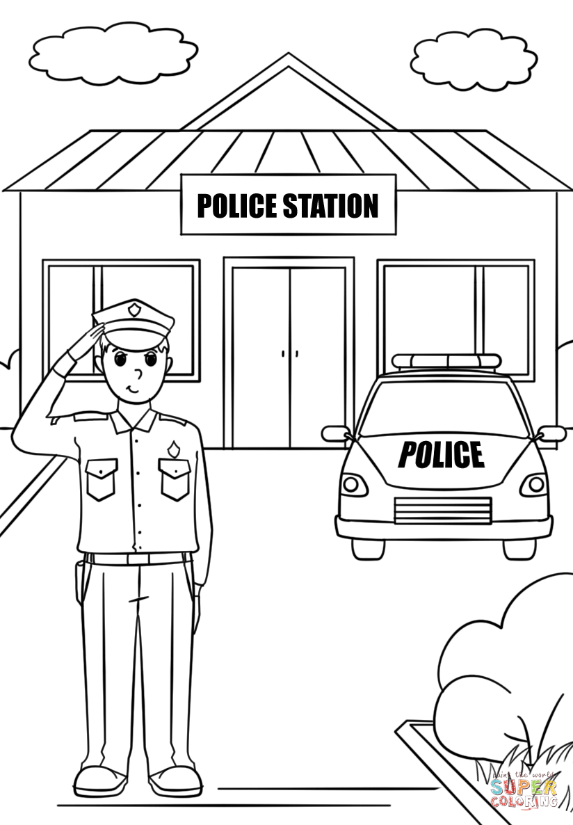 police pictures to colour free kids police officer coloring pages coloring home to pictures colour police