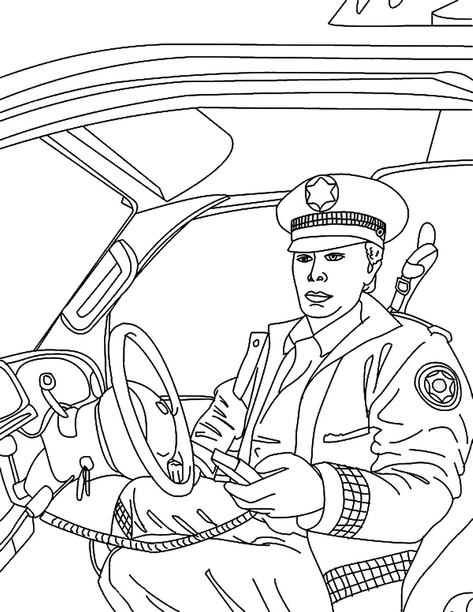 police pictures to colour police officer coloring pages for kids coloring home to police colour pictures