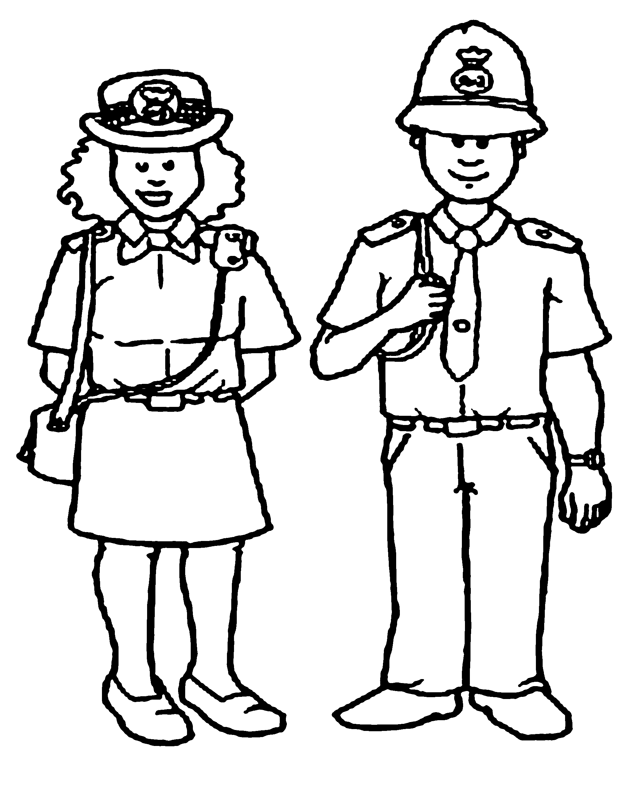 police pictures to colour police officer drawing at getdrawings free download colour pictures to police