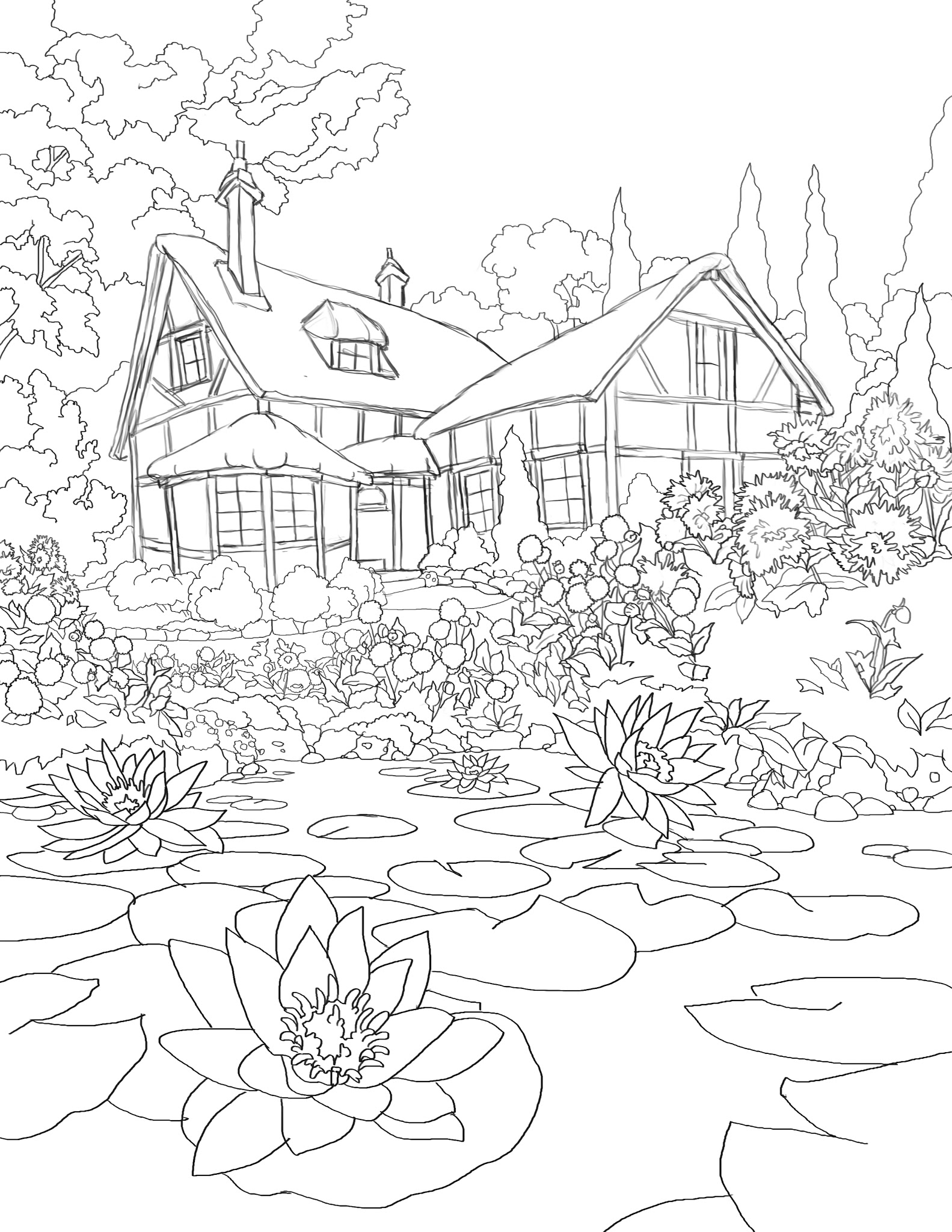 pond coloring pages 365 days of coloring cottage pond pond pages coloring