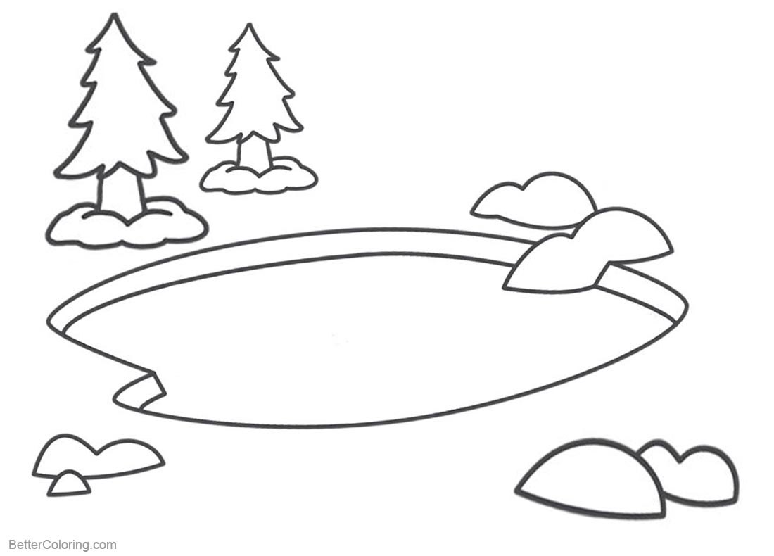 pond coloring pages pond habitat coloring page kerra coloring pages pond