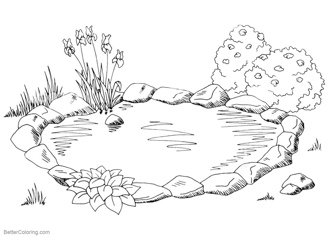 pond coloring pages pond homes coloring pages coloring book pages pond coloring