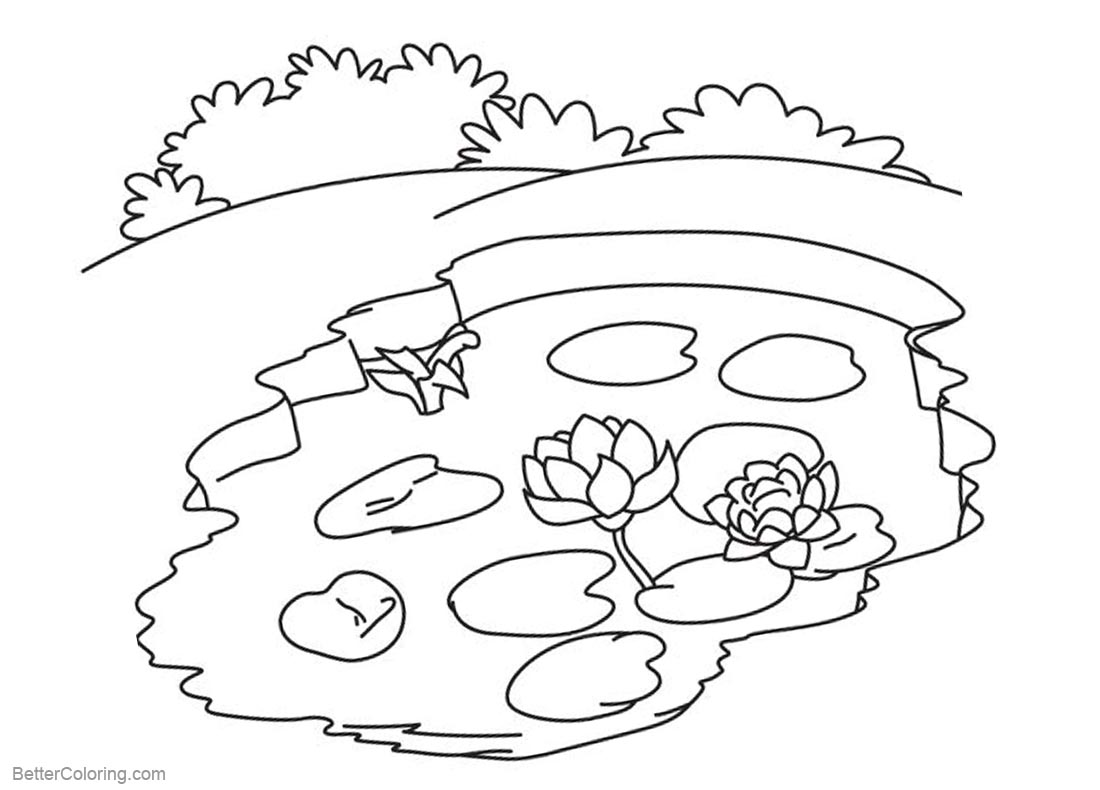 pond coloring pages pond life coloring pages free printable coloring pages pages coloring pond