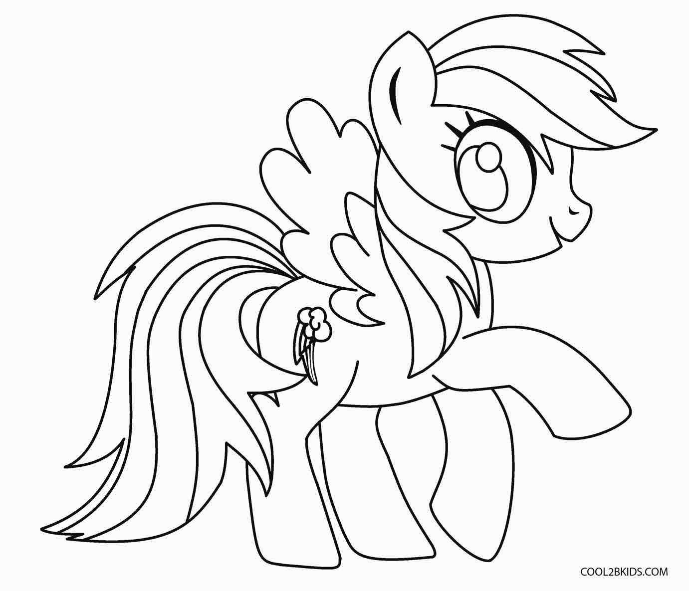 pony to color free printable my little pony coloring pages for kids pony to color