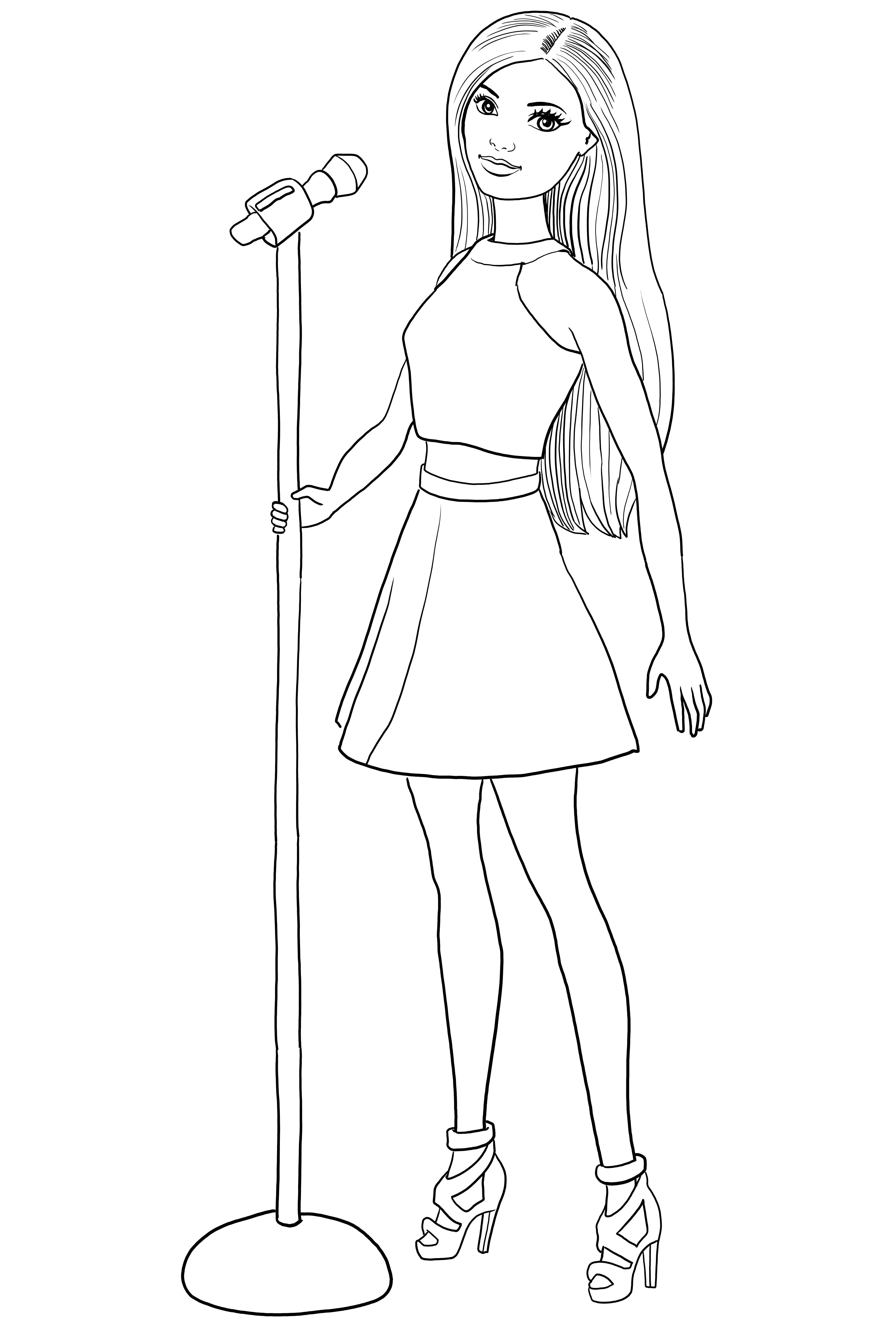 pop star colouring pages barbie princess and the popstar coloring pages coloring home pop pages colouring star