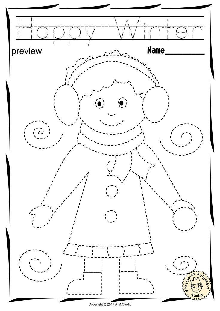 preschool coloring pages pdf winter trace and color pages fine motor skills pre preschool coloring pages pdf