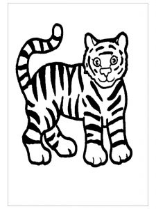 preschool tiger coloring pages tiger coloring pages for kids preschool and kindergarten tiger pages coloring preschool