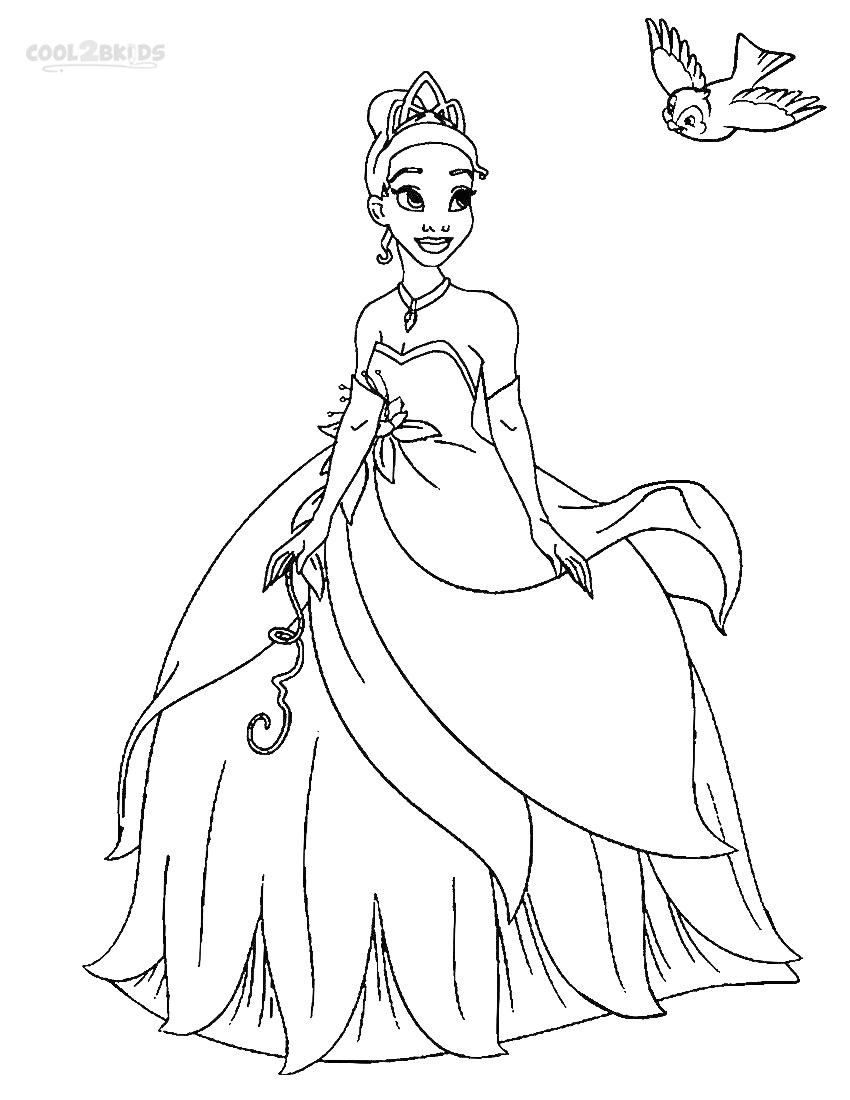 princess coloring pages online printable princess tiana coloring pages for kids coloring princess online pages