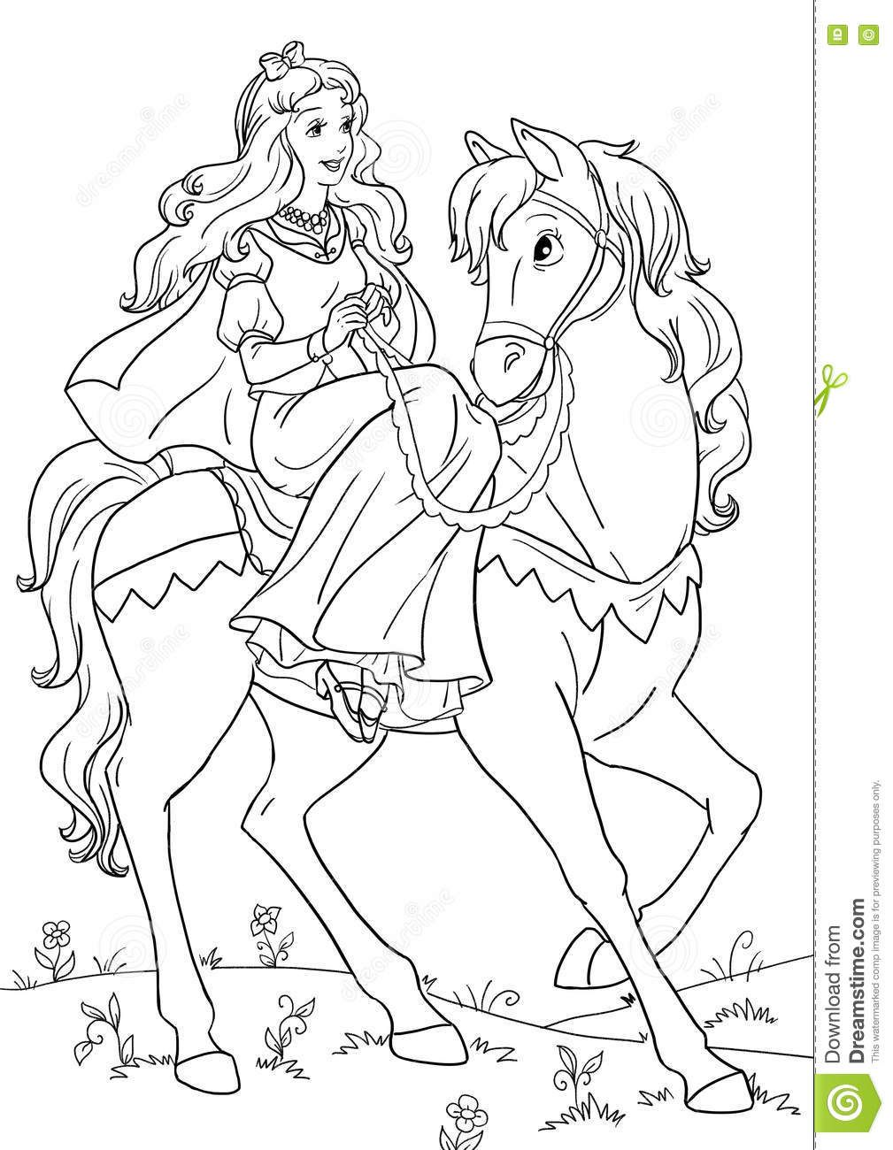 princess on horse coloring pages princess and horse coloring pages at getcoloringscom on coloring horse pages princess