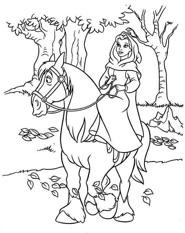 princess on horse coloring pages princess belle and horse coloring pages disney coloring on coloring princess horse pages