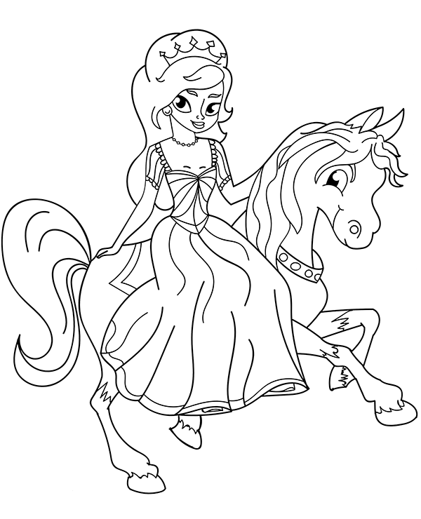 princess on horse coloring pages princess riding horse coloring page free printable princess on coloring pages horse