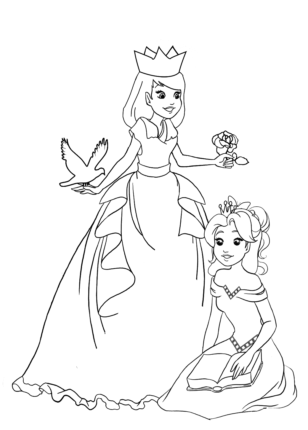 princesses coloring pages princess coloring pages free download on clipartmag princesses coloring pages