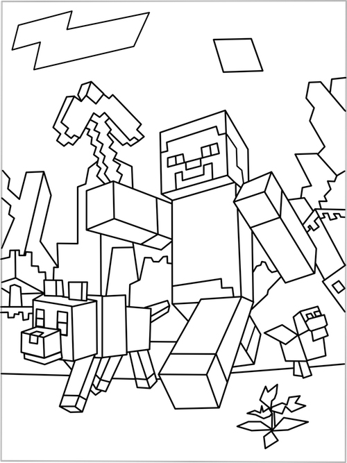 print minecraft coloring pages printable minecraft coloring pages coloring home minecraft pages coloring print