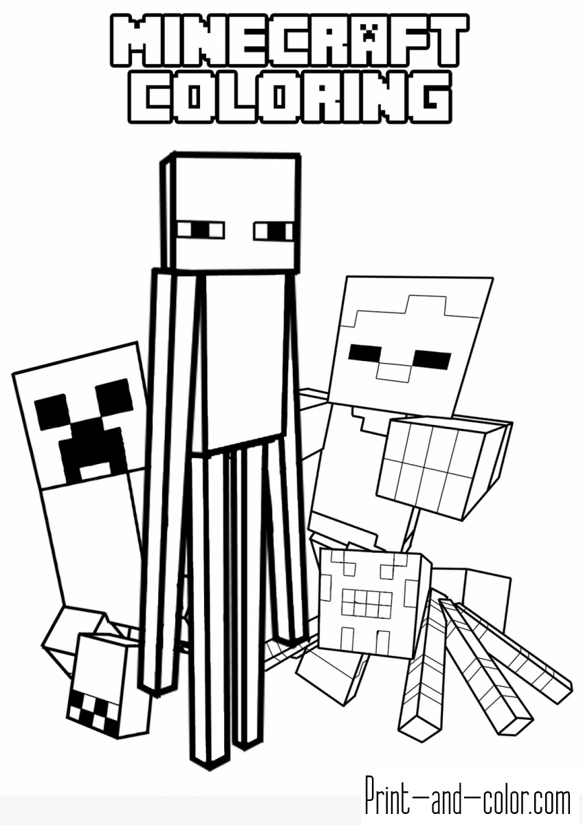 print minecraft coloring pages printable minecraft coloring pages coloring home print coloring minecraft pages