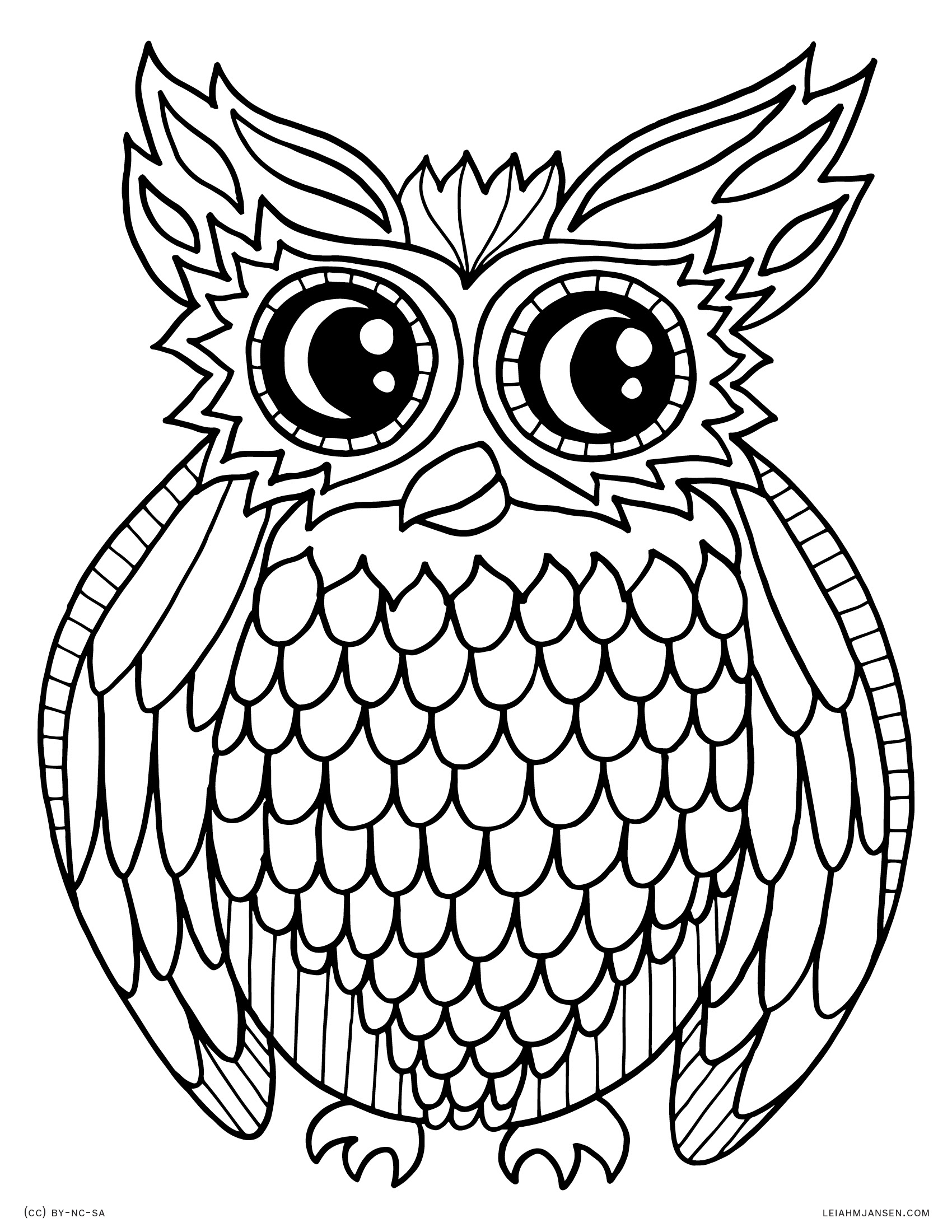 print owl pictures 10 difficult owl coloring page for adults owl pictures print