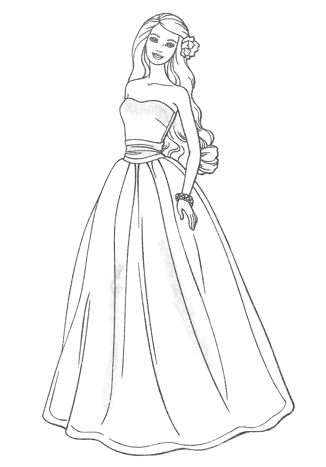 print printable barbie coloring pages coloring page barbie is going to the prom printable barbie coloring pages print