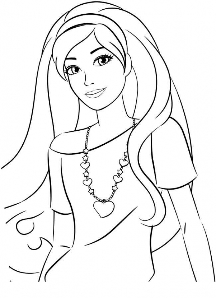 print printable barbie coloring pages easy barbie coloring pages at getcoloringscom free printable pages coloring barbie print