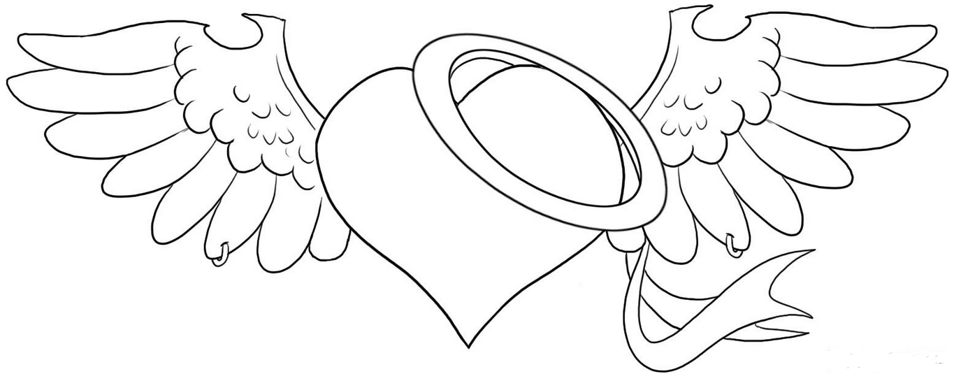 printable broken heart coloring pages angel heart coloring pages at getcoloringscom free printable heart broken pages coloring