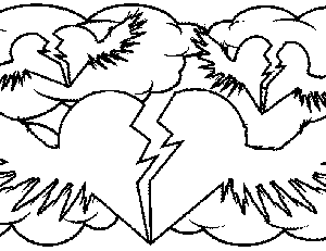 printable broken heart coloring pages broken heart coloring pages printable coloring broken heart pages