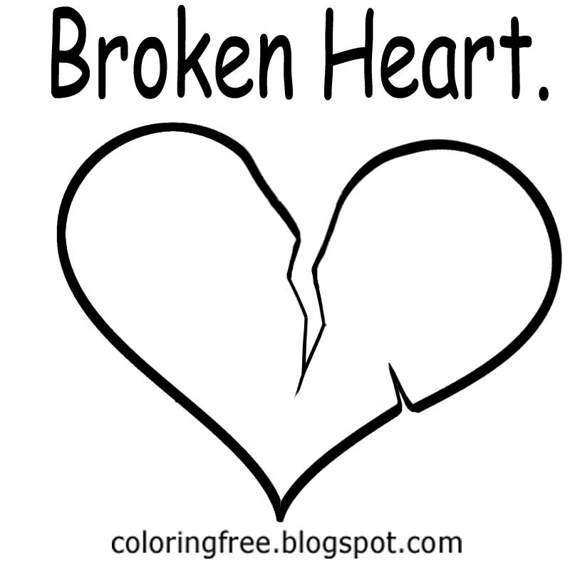 printable broken heart coloring pages free coloring pages printable pictures to color kids coloring printable broken heart pages
