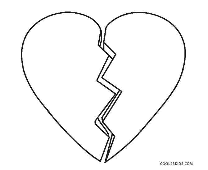 printable broken heart coloring pages free printable heart coloring pages for kids pages printable heart coloring broken