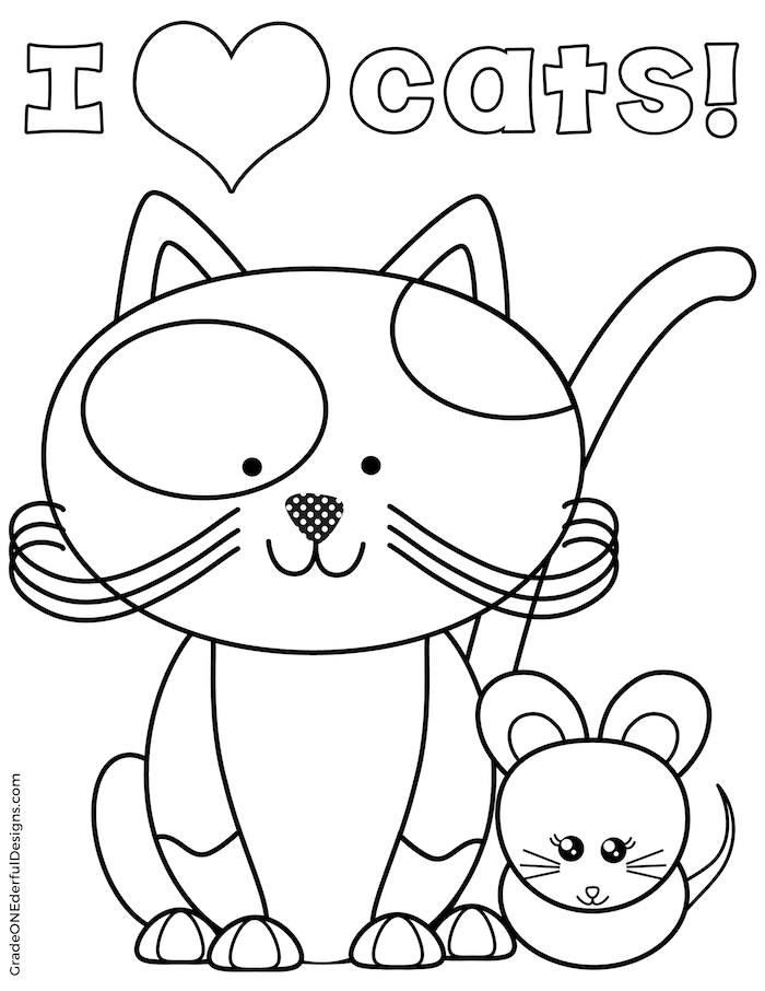printable cat coloring pages cats coloring pages printable coloring cat pages