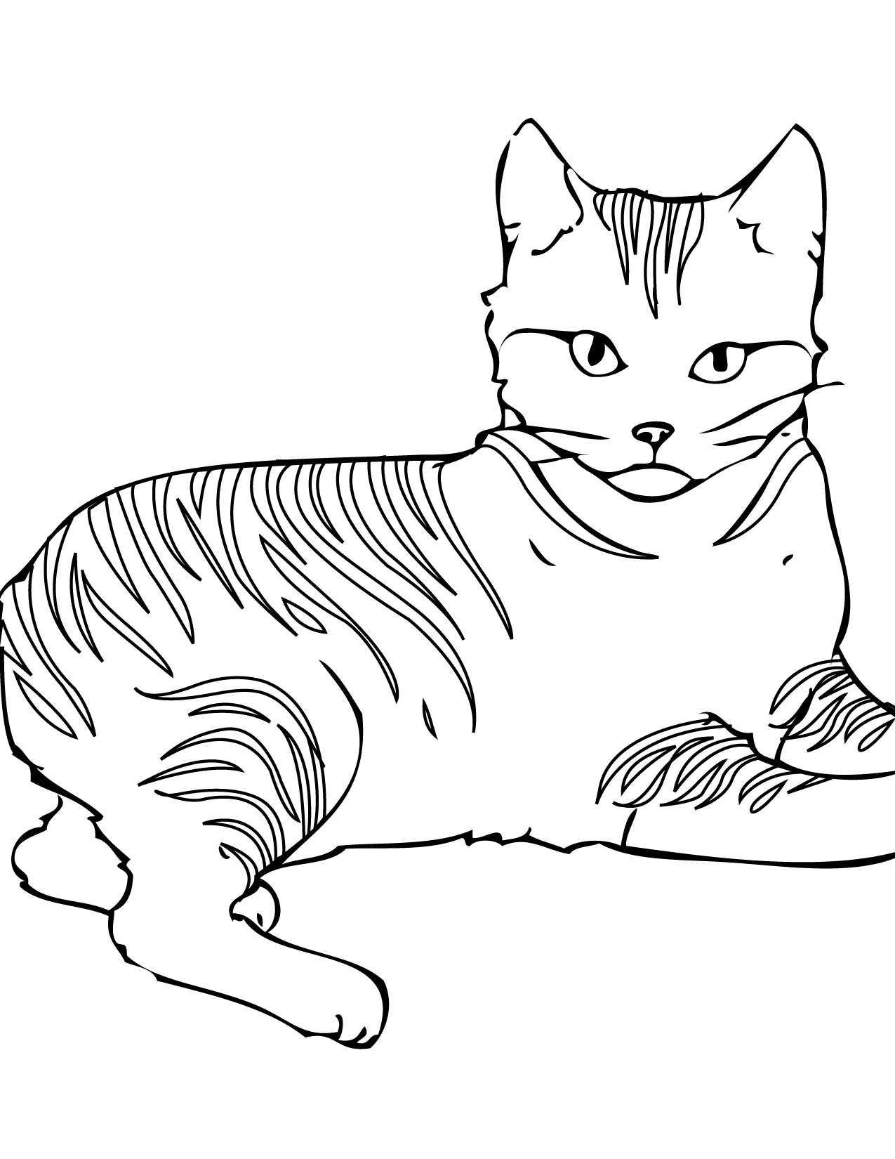 printable cat free printable cat coloring pages for kids printable cat 1 4