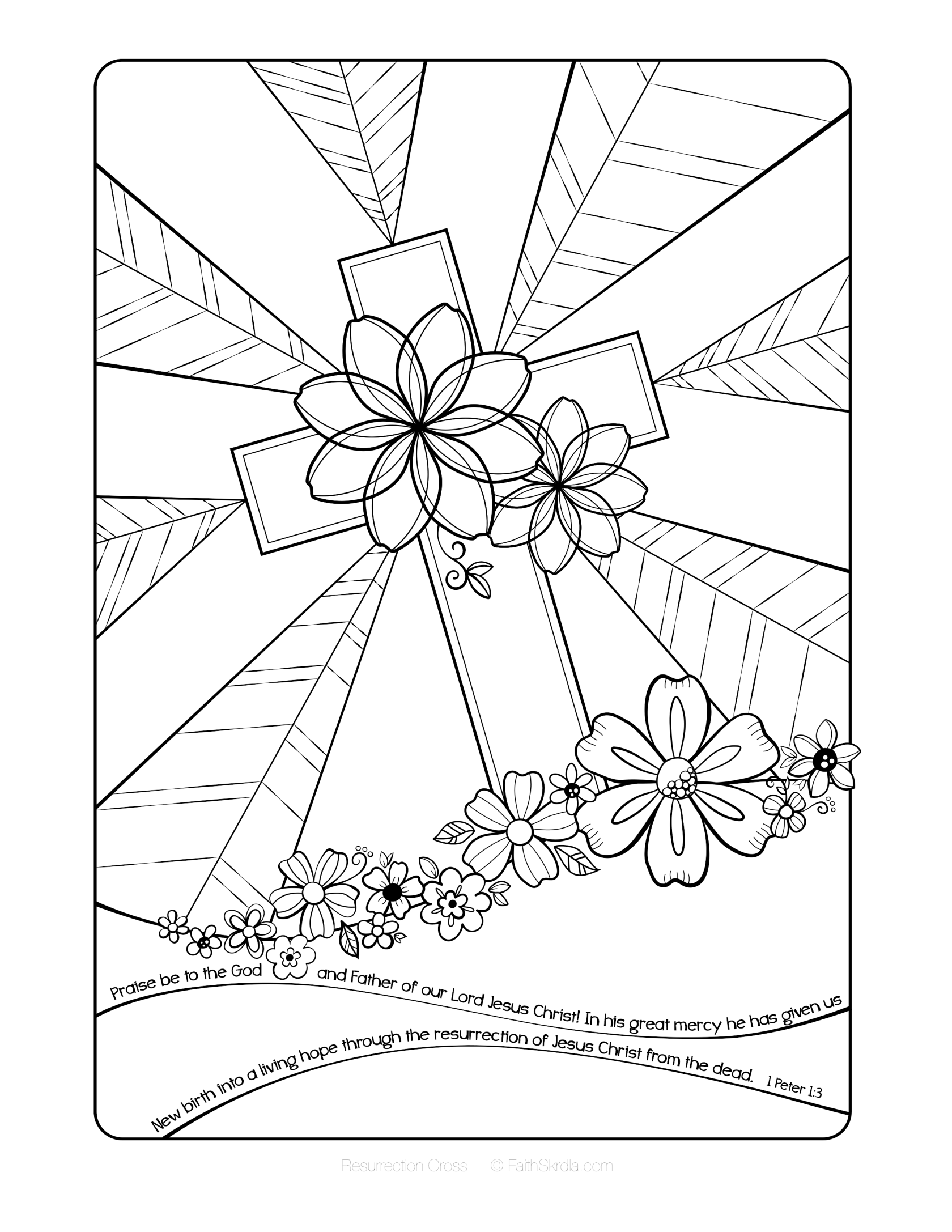 printable christian coloring pages cross instant download printable art scripture christian christian printable pages coloring