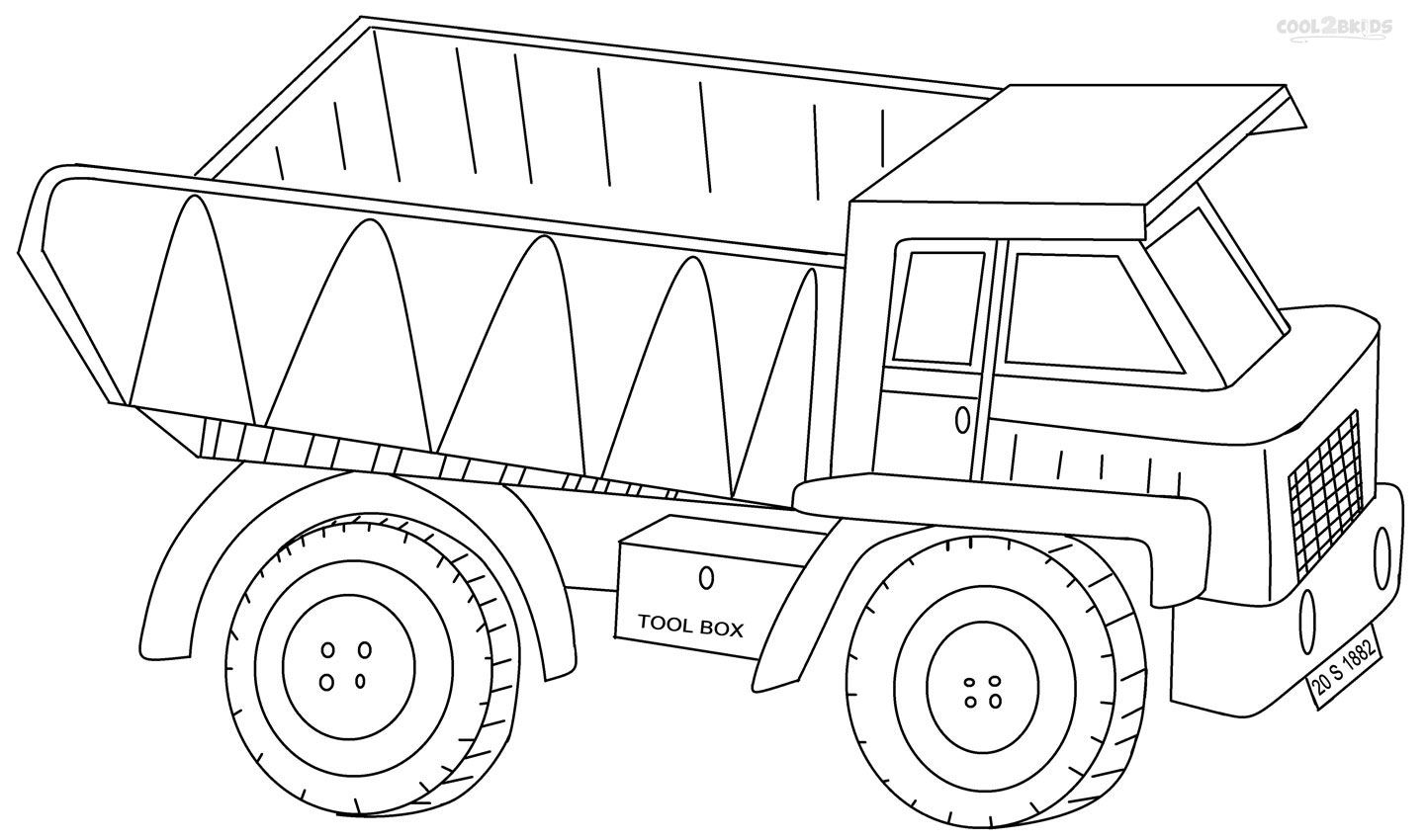 printable dump truck coloring page dump truck coloring pages printable at getdrawings free coloring truck page dump printable