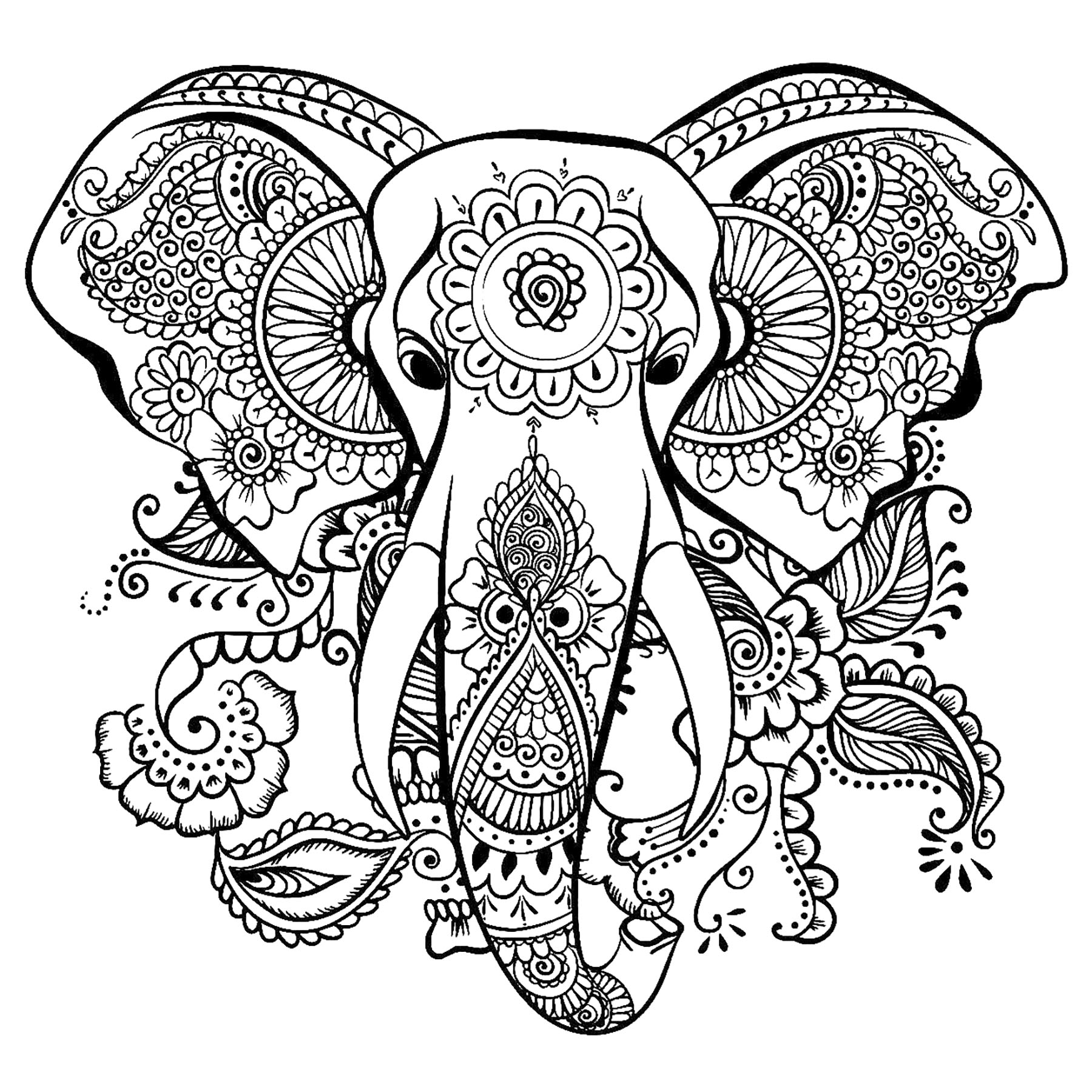 printable elephant coloring pages 20 free printable hard elephant coloring pages for adults elephant pages printable coloring