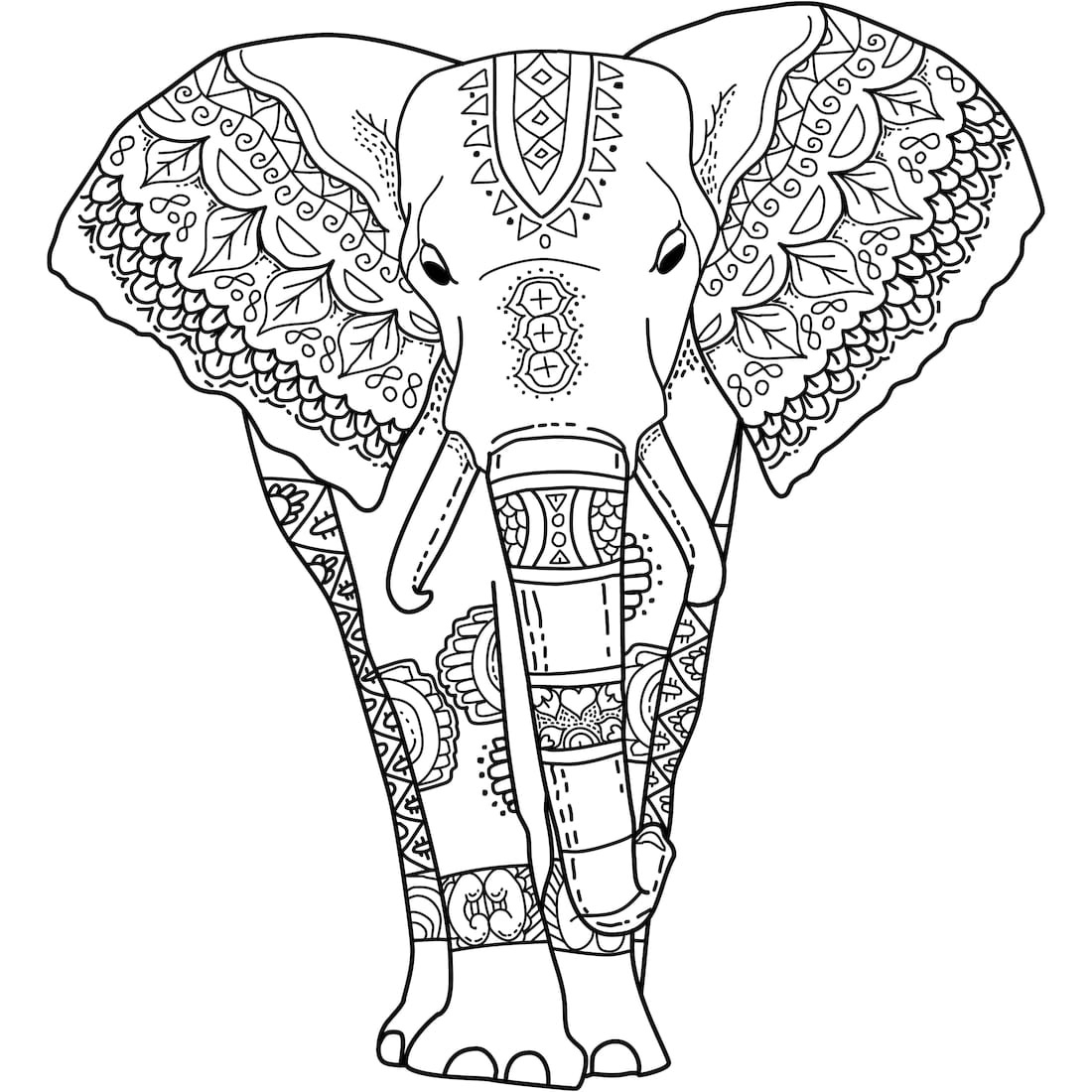 printable elephant coloring pages elephant shape with patterns elephants adult coloring pages elephant pages printable coloring