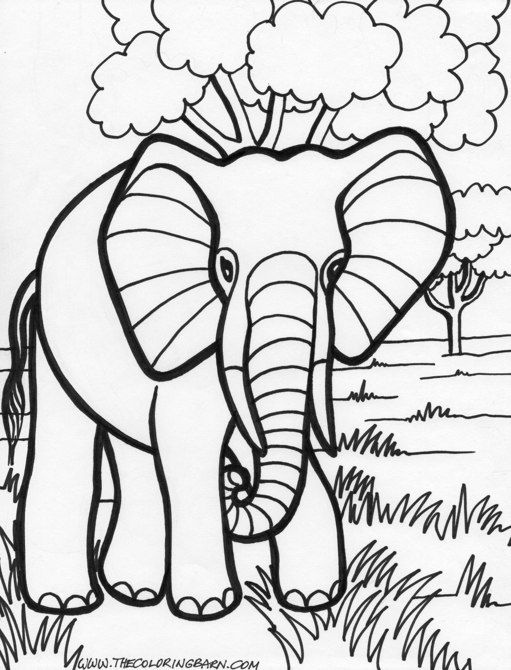 printable elephant coloring pages print download teaching kids through elephant coloring printable coloring pages elephant
