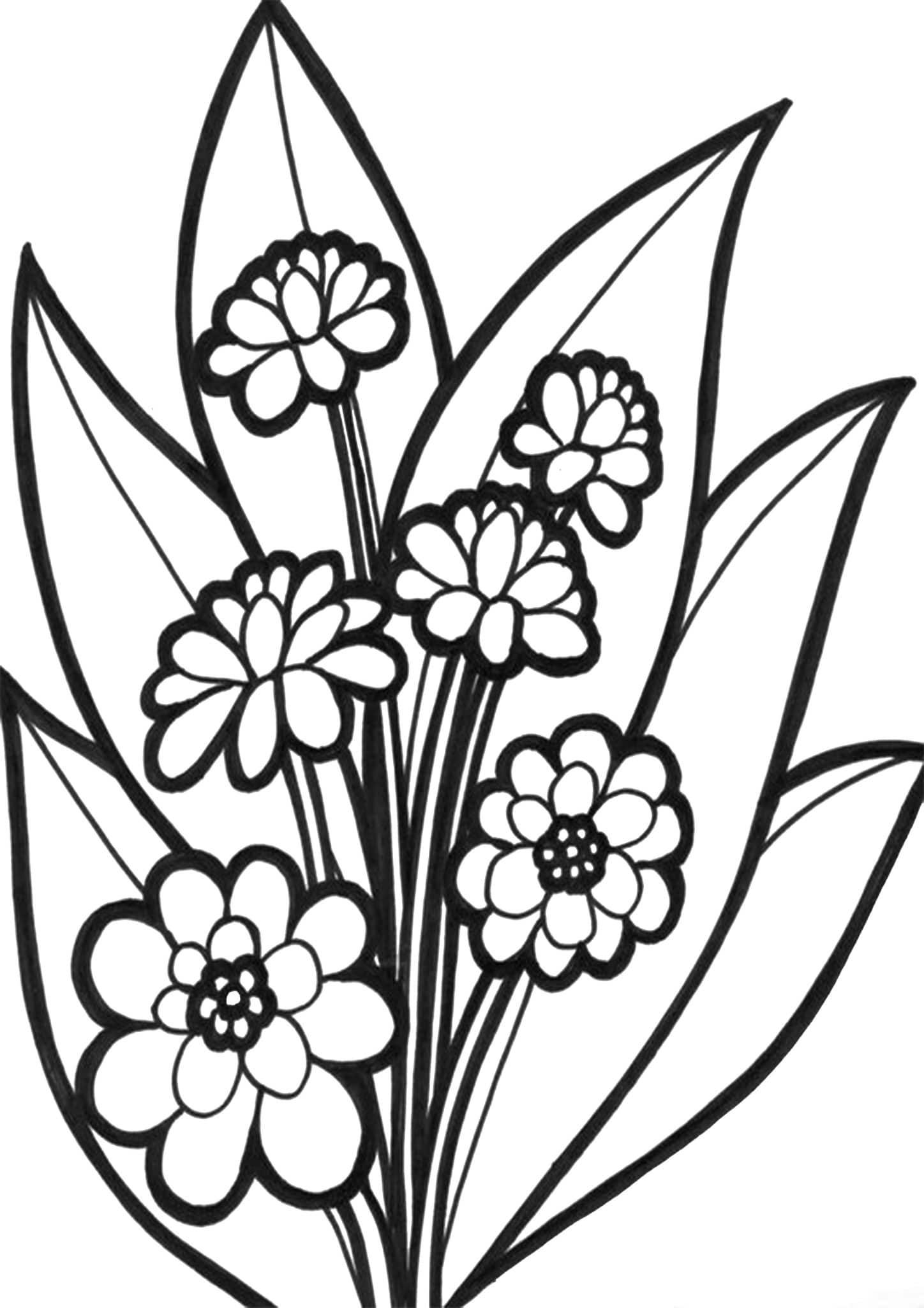 printable flowers coloring pages free printable flower coloring pages for kids best pages coloring printable flowers