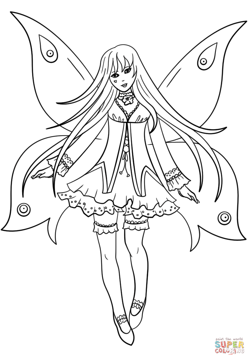 printable gothic fairy coloring pages free gothic fairy coloring pages gothic pages fairy printable coloring