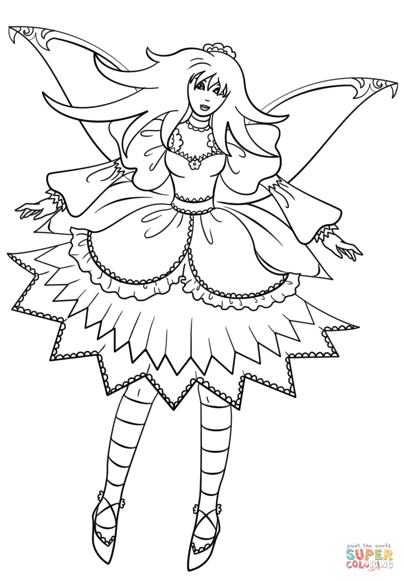 printable gothic fairy coloring pages gothic fairy coloring pages coloringrocks fairy pages printable coloring gothic