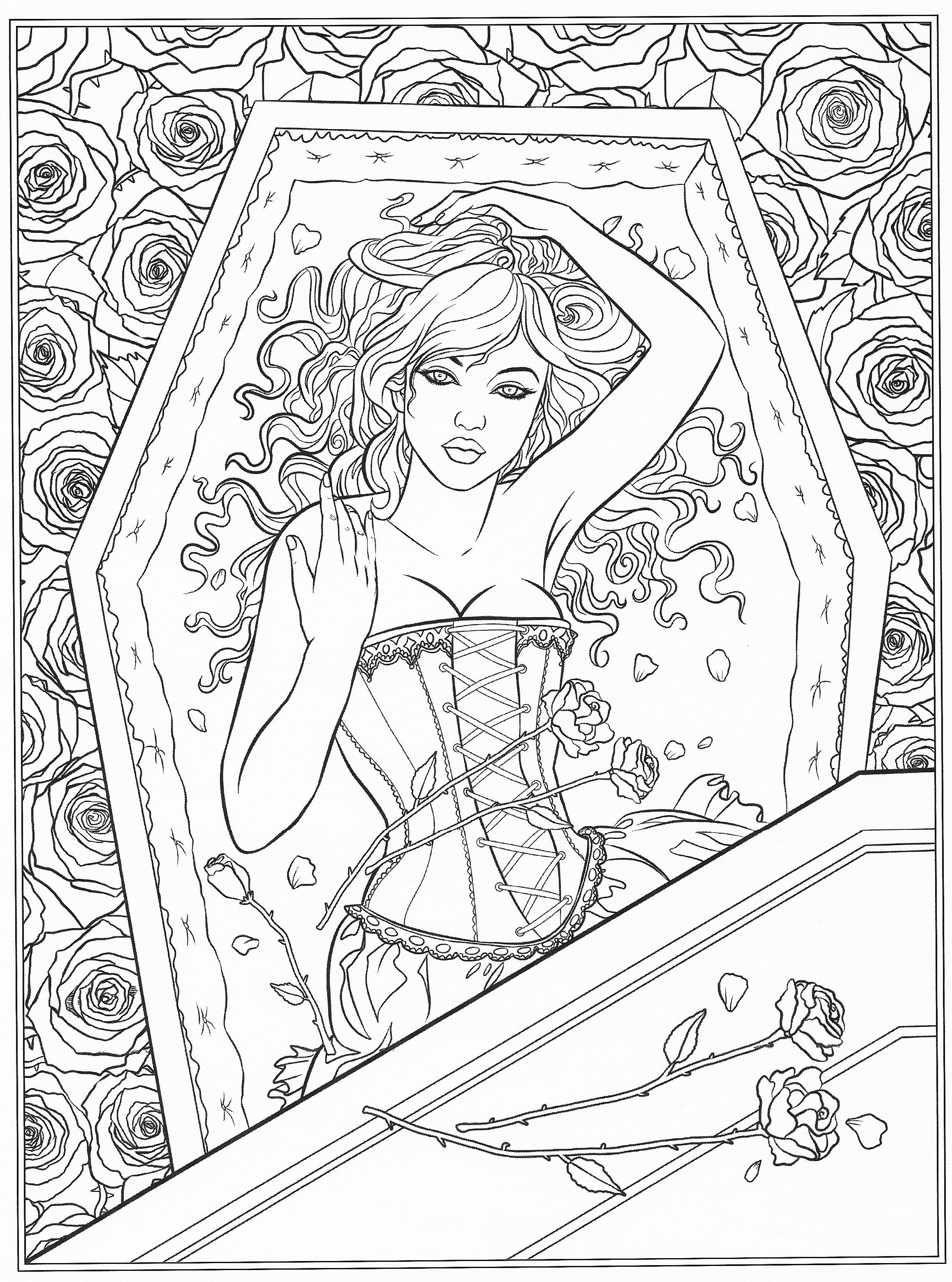 printable gothic fairy coloring pages halloween gothic coloring page to color with color therapy fairy printable coloring pages gothic