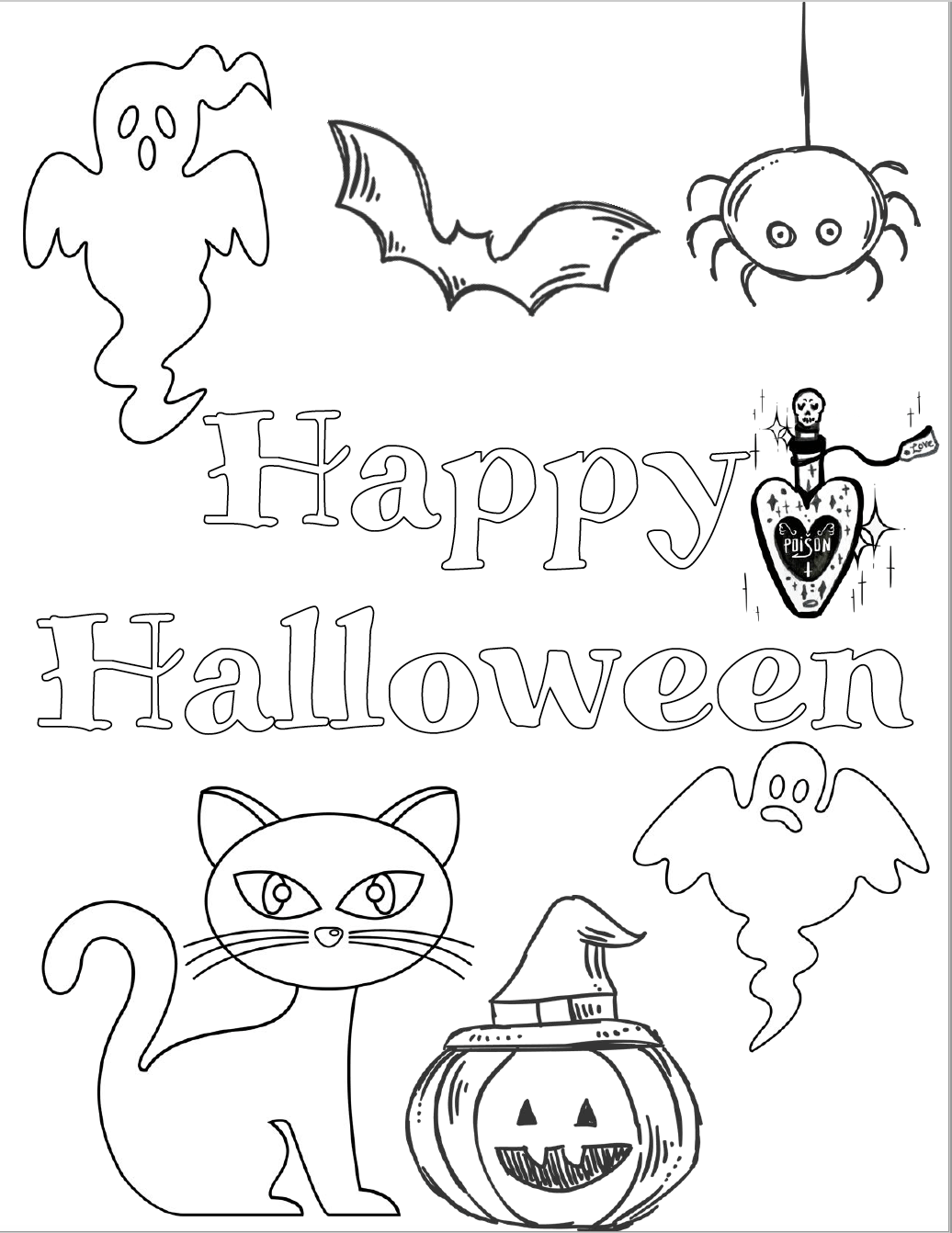 printable halloween coloring pages 5 free printable halloween coloring pages for kids printable halloween pages coloring