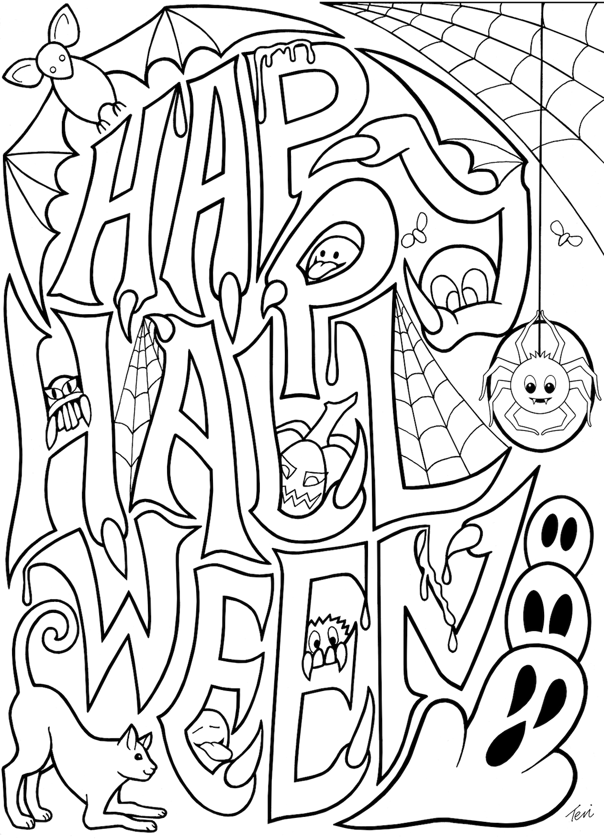 printable halloween coloring pages free halloween coloring pages archives printable coloring halloween pages